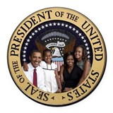 Barak obama Round Car Magnets