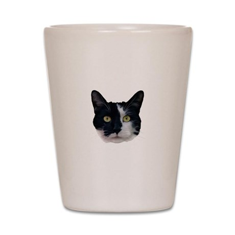 Black and White Cat Shot Glass