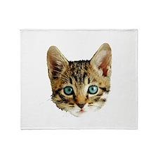 Kitty Cat Face Throw Blanket