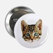 "Kitty Cat Face 2.25"" Button"