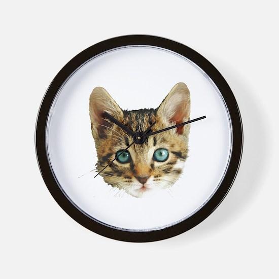 Kitty Cat Face Wall Clock