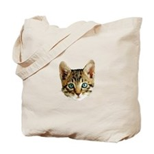 Kitty Cat Face Tote Bag