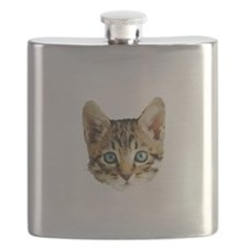 Kitty Cat Face Flask