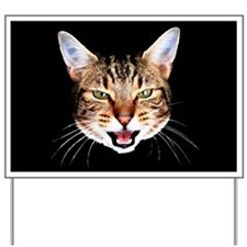Mean Cat Yard Sign