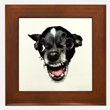 Vicious Chihuahua Framed Tile