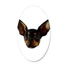Vicious Chihuahua Oval Car Magnet