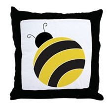 Mr. Bumble Bee Throw Pillow