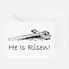 easter he has risen cross Greeting Card