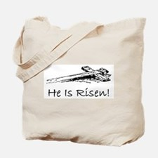 easter he has risen cross Tote Bag