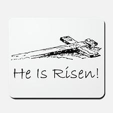 easter he has risen cross Mousepad