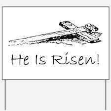 easter he has risen cross Yard Sign