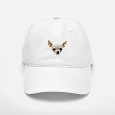 White Chihuahua Baseball Baseball Cap