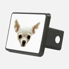 White Chihuahua Hitch Cover
