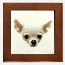 White Chihuahua Framed Tile