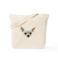 White Chihuahua Tote Bag
