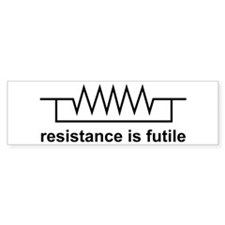 Resistance is Futile Bumper Car Sticker