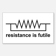 Resistance is Futile Decal