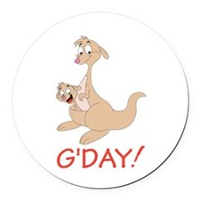 GDAY Round Car Magnet