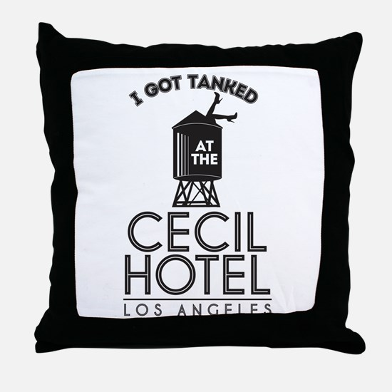 Cecil Hotel Throw Pillow