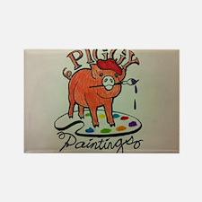 Piggy Painter Rectangle Magnet