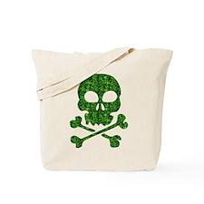 Skull Made of Shamrocks Tote Bag