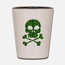 Skull Made of Shamrocks Shot Glass