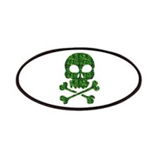 Skull Made of Shamrocks Patches
