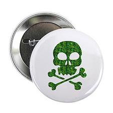 """Skull Made of Shamrocks 2.25"""" Button (10 pack)"""