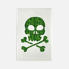 Skull Made of Shamrocks Rectangle Magnet (100 pack