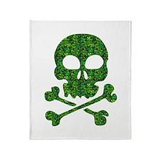 Skull Made of Shamrocks Throw Blanket