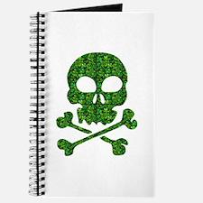 Skull Made of Shamrocks Journal