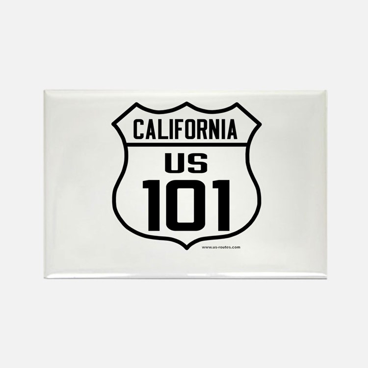 US Route 101 - California Rectangle Magnet