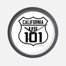 US Route 101 - California Wall Clock