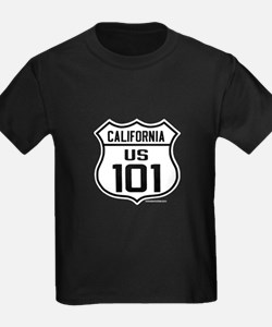 US Route 101 - California - Kids w cities on back