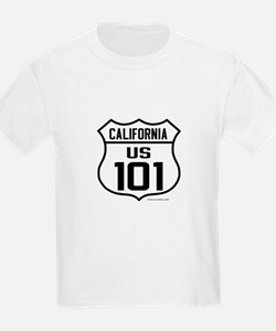 US Route 101 - California Kids with cities on back