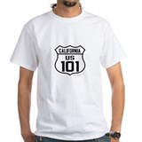 Highway 101 Mens White T-shirts