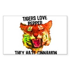 Tigers Love Pepper Decal