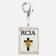 RCIA Cross Silver Portrait Charm