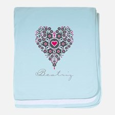Love Beatriz baby blanket