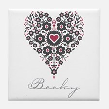 Love Becky Tile Coaster