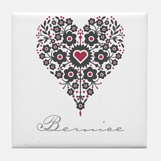 Love Bernice Tile Coaster