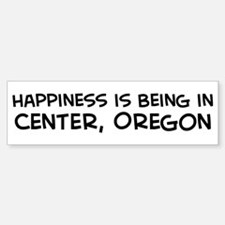 Center - Happiness Bumper Bumper Bumper Sticker