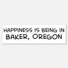 Baker - Happiness Bumper Bumper Bumper Sticker