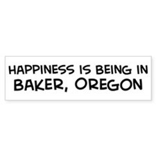 Baker - Happiness Bumper Bumper Sticker