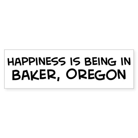 Baker - Happiness Bumper Sticker