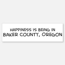 Baker County - Happiness Bumper Bumper Bumper Sticker