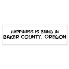 Baker County - Happiness Bumper Bumper Sticker