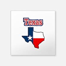 "Texas Map Square Sticker 3"" x 3"""