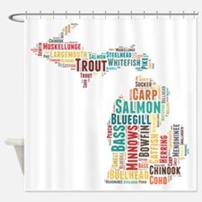 MichiganFishing Shower Curtain
