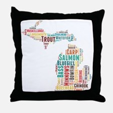 MichiganFishing Throw Pillow